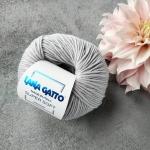 Пряжа Lana Gatto Supersoft 12504 серебро(металлический-серый)