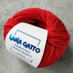Пряжа Lana Gatto Maxi Soft 12246 темно-красный