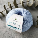 Пряжа Lana Gatto Baby Soft Aloe Vera 12260 голубой