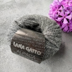 Пряжа Lana Gatto Alpaca Superfine 7612 темно-серый