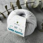 Пряжа Lana Gatto Baby Soft Aloe Vera 12504 серебро(металлический-серый)