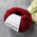 Пряжа Lana Gatto Silk Mohair Lux 5891 винный