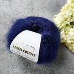 Пряжа Lana Gatto Silk Mohair Lux 6035 темно-синий